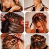 örgülü saç toplama örnekleri