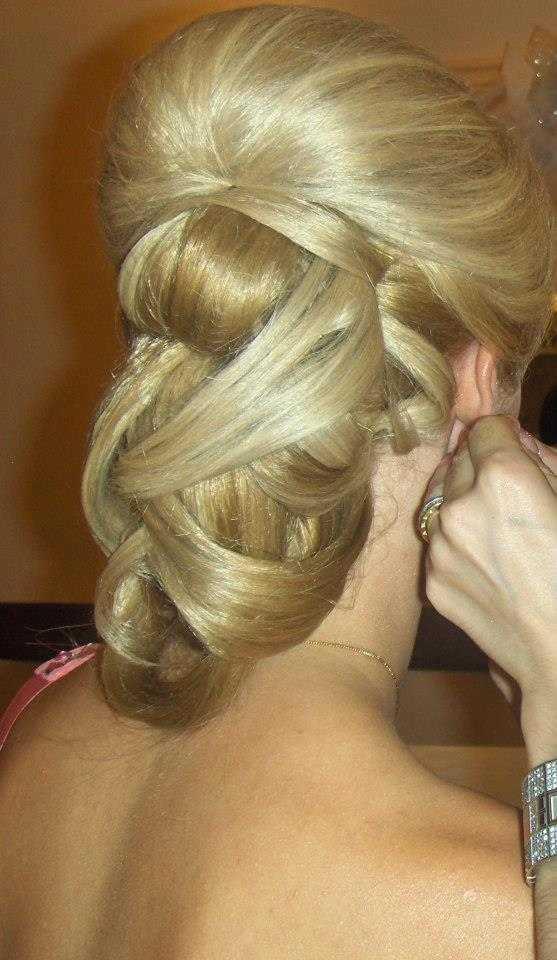 şık topuz şeklindeki saç