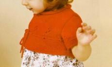 Kırmızı Renkli Haraşo Desenli Çocuk Bolero Modeli