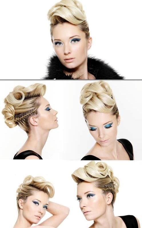 abiye toplanmış şık saç modeli