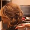 dagınık toplanmış genç kız saçı