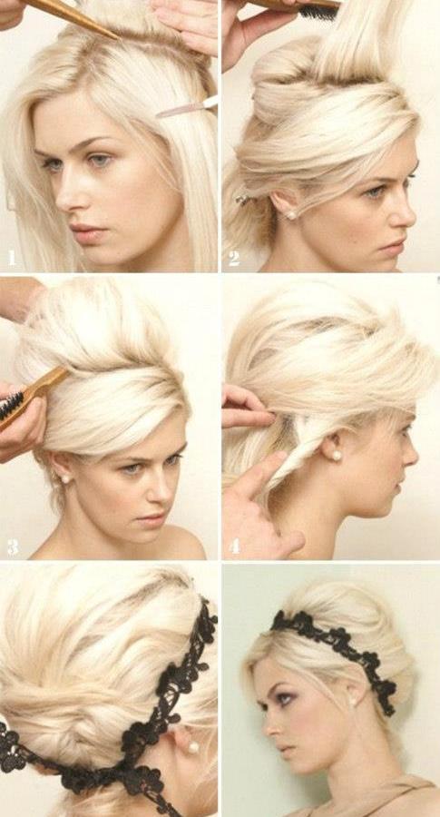 modern saç toplama ve saç aksesuarı yerleştirme