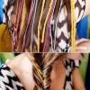renkli iple örülmüş saç örneği ve yapılışı