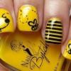 sarı siyah hayvan desenli tırnaklar