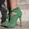 yaprak desenli süet ayakkabı modeli