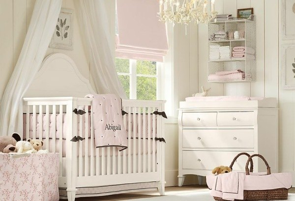 Modern Tasarm Beyaz Bebek Odas Tasarm
