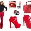 kırmızı ayakkabı botlar ve kombini