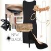 siyah süet topuklu ayakkabı ve kombini