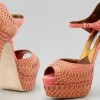 turuncu paltformlu ayakkabı