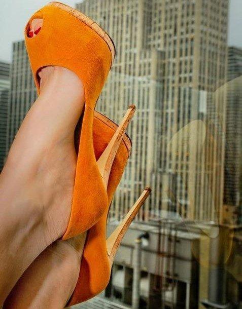 turuncu süet platformlu sezon ayakkabıları