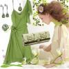 yeşik elbise kombini