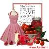 kalp kesim kloş elbise kombin modeli