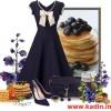 laci fiyonk detaylı kloş elbise kombin modeli