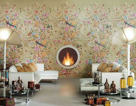 çiçekli desenli duvar kağıdı tasarımları