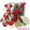 beyaz çiçekli elbise kombin modeli