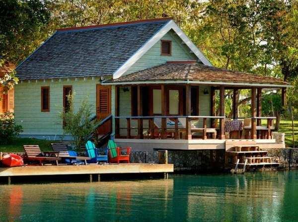 göl kenarında müstakil ev