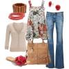 kırmızı çiçekli terlik ve kot pantolon lombini