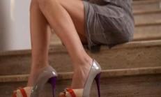 Renkli Burnu Açık Ayakkabı Modelleri