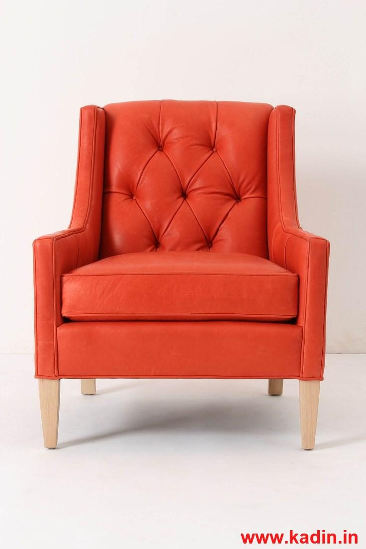 turuncu şık tekli koltuk modeli