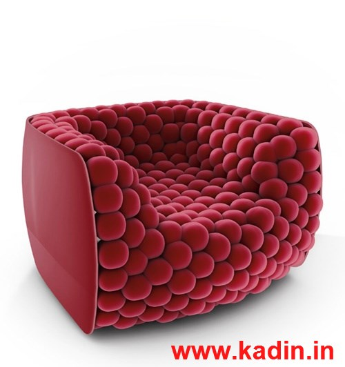 vişne rengi modern tekli koltuk modeli