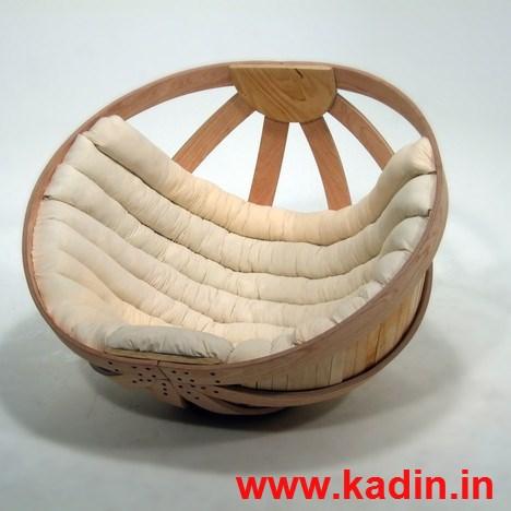 yuvarlak ahşap tekli koltuk modeli