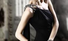 Siyah Şık Alımlı Abiye Elbise Modelleri