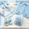 bebek battaniye hırka patik ve pantolonu