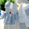 mavi beyaz bebek battaniyesi şapkası hırkası