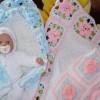motifli tığ işi bebek battaniyesi