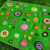 yeşil örgü battaniye