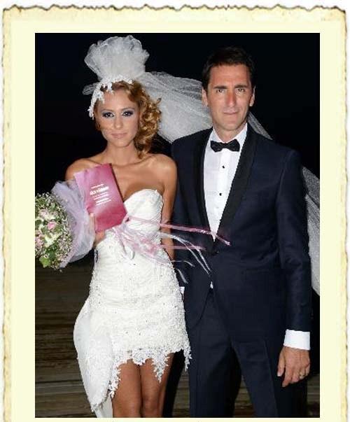 Bekir Aksoy ile Gamze Çavuşoğlu'nun evlilik resmi
