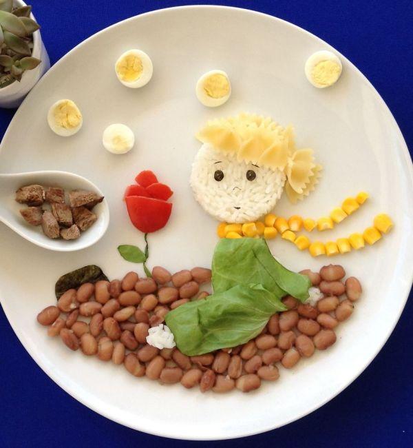 Çocuklar için yemek tabağı süsleme
