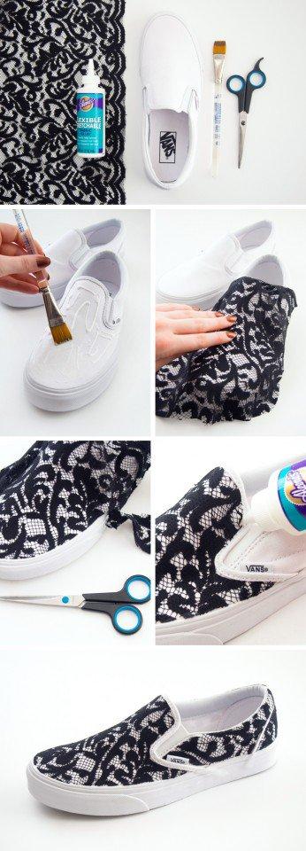 1 dantel yapıştırılan spor ayakkabı