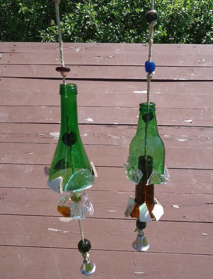 cam şişelerden süs