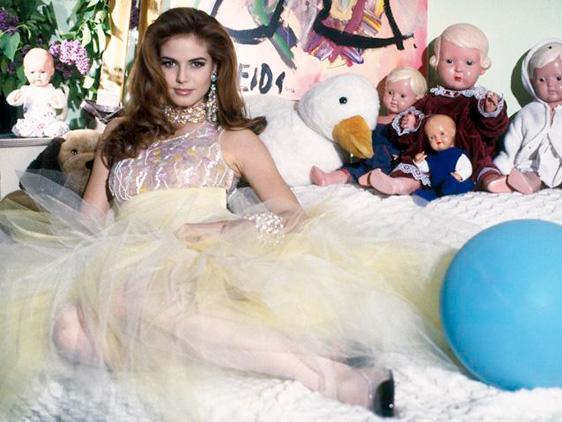Heidi Klum acemi bir modelken