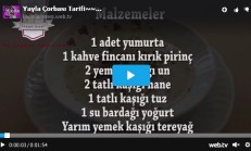 Yayla Çorbası Tarifi Videolu