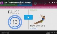 Evde Yeni Başlayanlar İçin 5 Dakikalık Kolay Egzersiz. Düz Karın egzersizleri