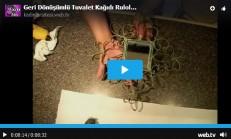 Geri Dönüşüm ile Tuvalet Kağıdı Ruloları İle Ayna Süsleme- Videolu Anlatım