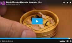 Minyatür Yemekler Sushi
