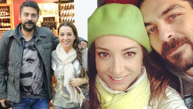 19 Oyuncu Dolunay Soysert ve eşi Sinan Tuzcu