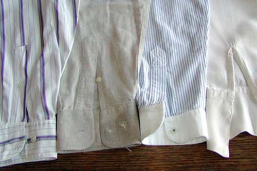 gömlek kollarındaki kiri temizler