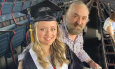 Volkan Konak'ın büyük gururu! Kızı Amerika'da üniversite bitirdi