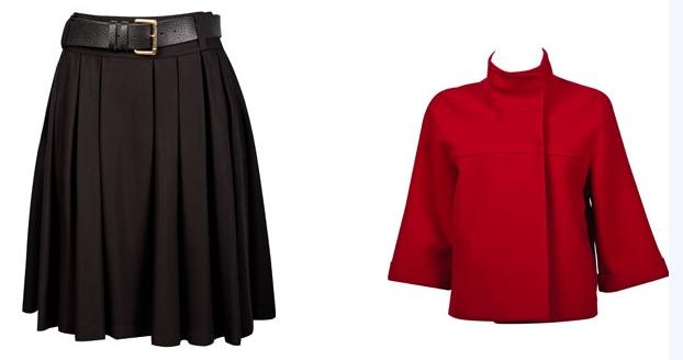 Kırmızı kısa ceket