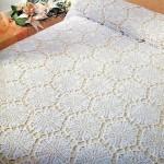 altıgen motifli dantel yatak örtüsü modelleri
