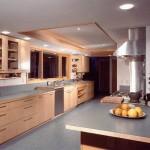 büyük sade dekoratif  ağaç mobilya yeni trend amerikan mutfak