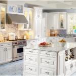 beyaz sade şık amerikan mutfak dekorasyon