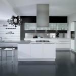elegan siyah beyaz renk amerikan model mutfak