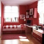 kırmızı çocuk genç odası
