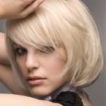 kısa platin sarısı saç modeli