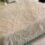 kabartmalı dantel yatak örtüleri